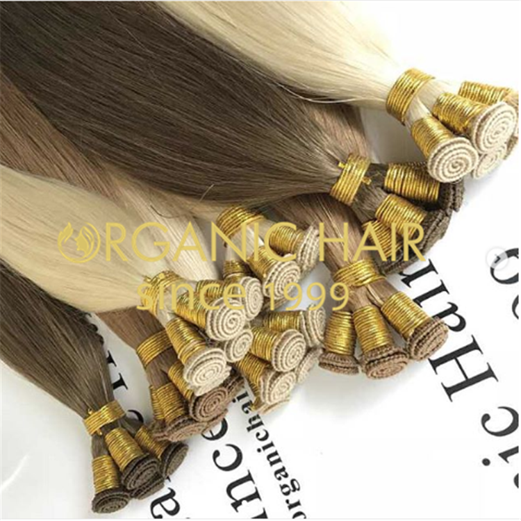 China wholesale 100% virgin human hand tie weft ,double drawn A33