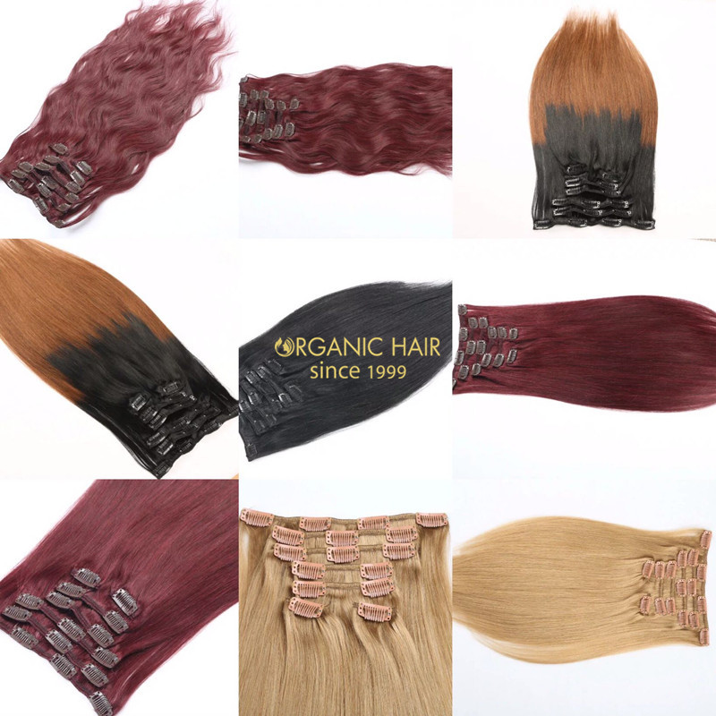 New Arrive Large Stock hair extensions with clips !