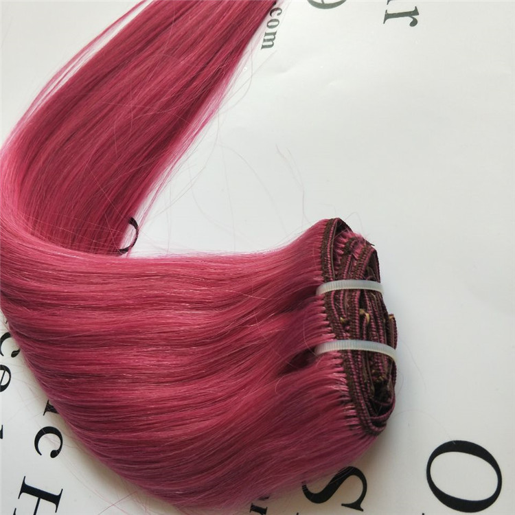 100% virgin human hair,Double Drawn clip Remy Hair Extensions A18
