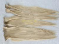 Human hair clip in extensions #60color double drawn X11