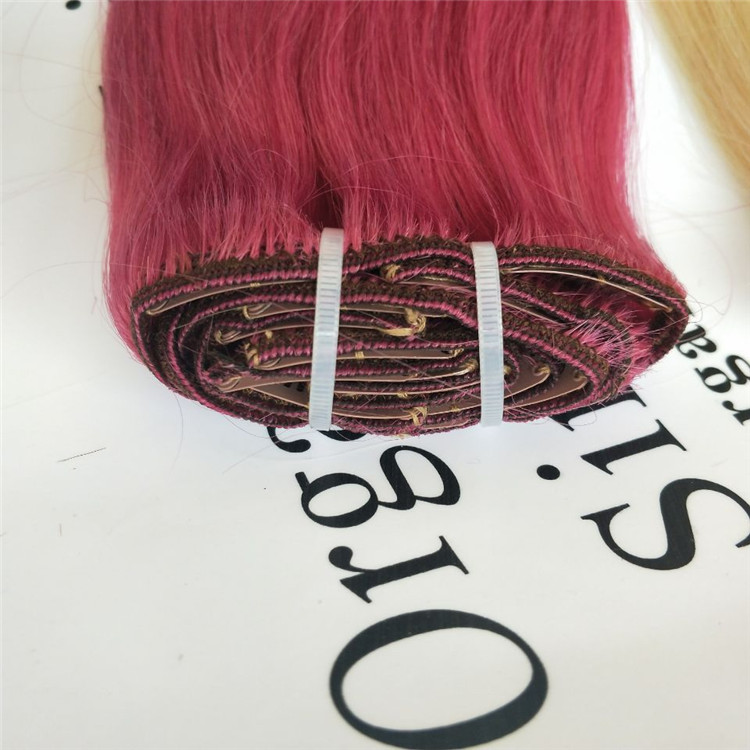 human hair clip in pink wholesale online shop C22