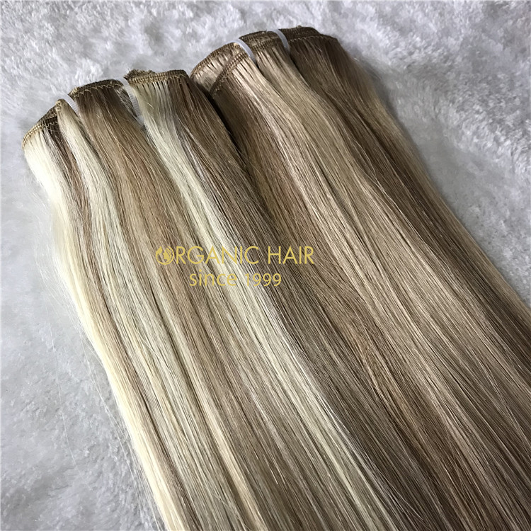 Clip in hair extensions customized color X141