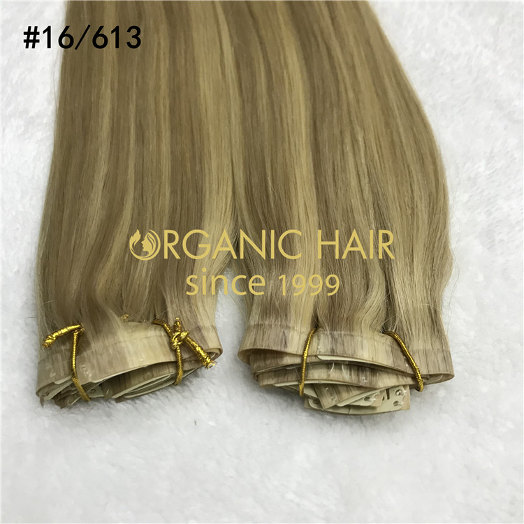 Luxury clip in hair extensions wholesale H324