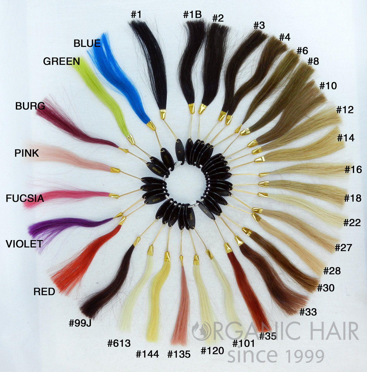 Organic hair factory Color Ring color swatch