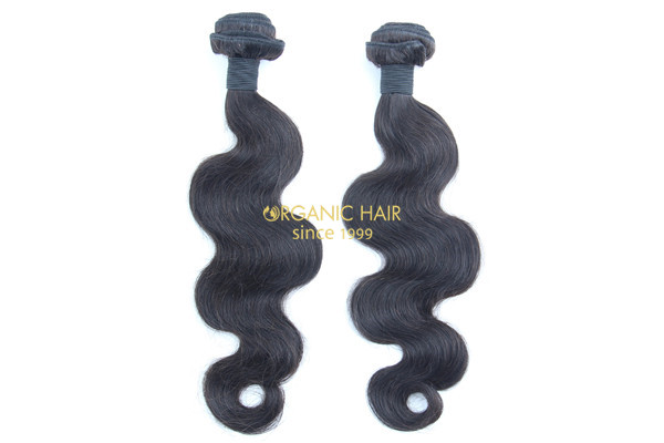 Curly milky way human hair weave