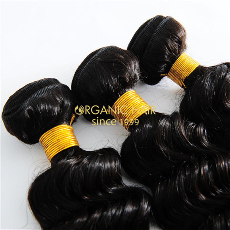 Brazilian remy curly human hair weave