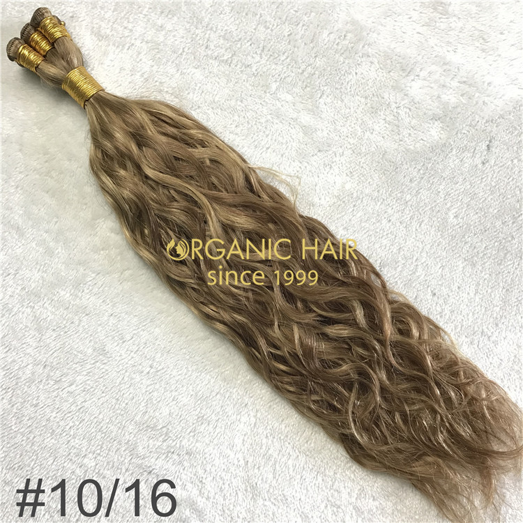 Natural wave #10/16 human hand tied wefts X216