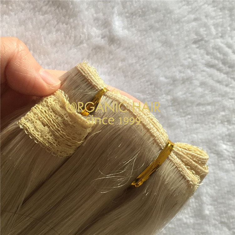 Customized lace weft with our best quality hair A190