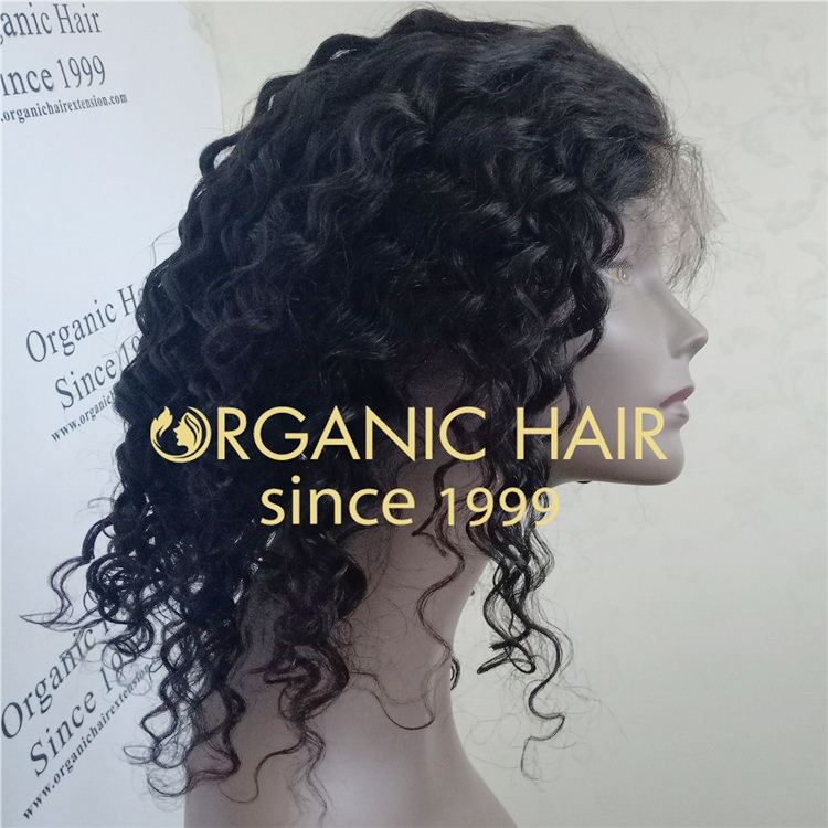 Wholesale remy human curly full lace wig for baby A75