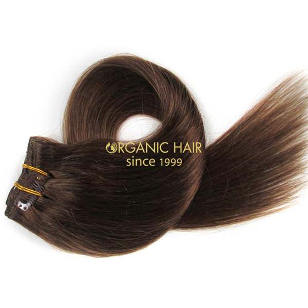 Brazilian remy hair clip in extensions cuticle remy xq #6