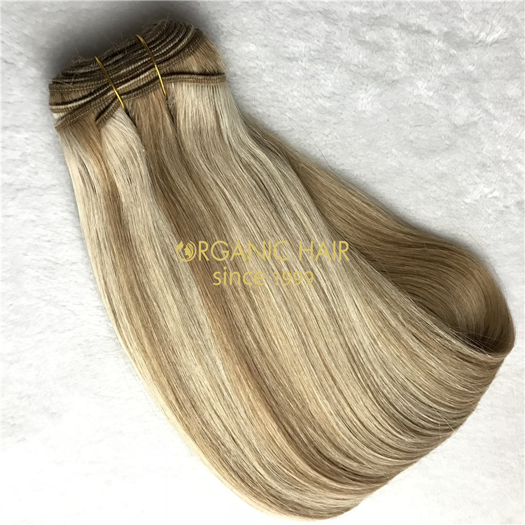 Hot sale and human cuticle intact machine wefts X276