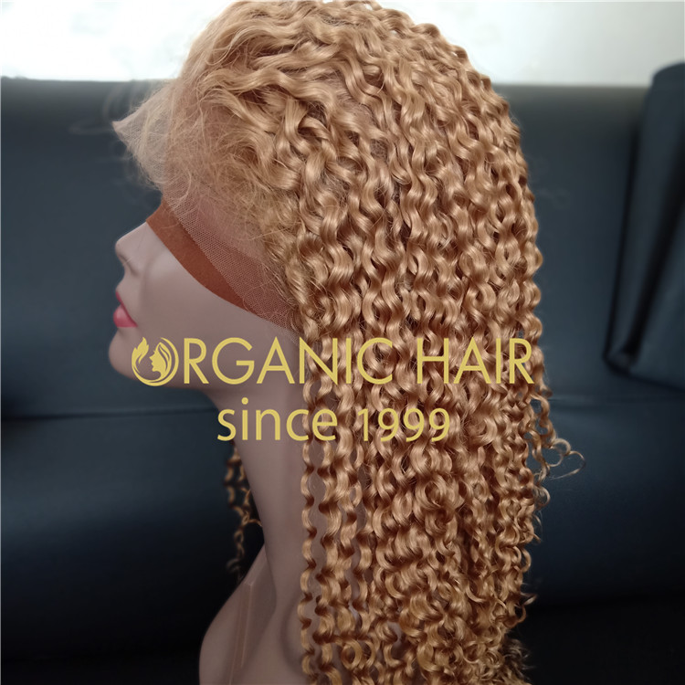 Customized 130 density,Deep curly full lace wig at a wholesale price A58