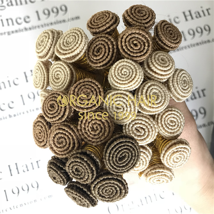 Hand tied weft-High end customization  Ombre color GT55
