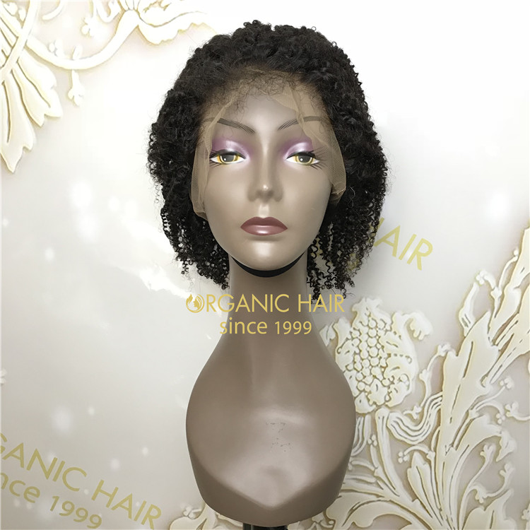 Discount natural full lace wigs Afro curly X90