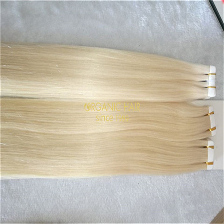 Wholesale best double drawn blonde tape in hair extension remy hair in china A29