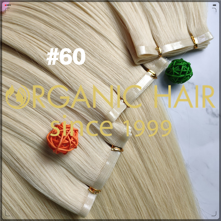 #60 double drawn top quality flat weft human hair extensions CNY003