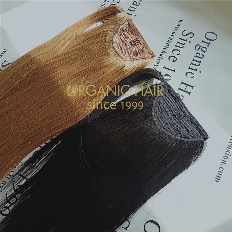 Remy human hair pieces-Ponytail hair extension,easy to wear A128