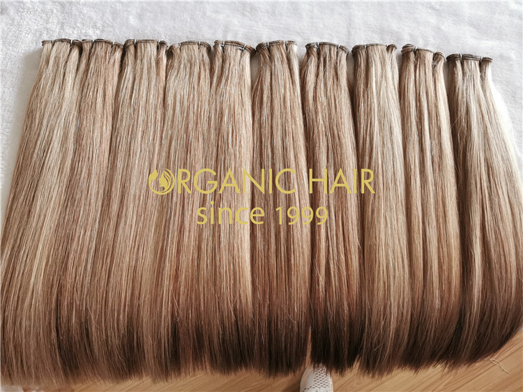 natural beaded rows hand tied hair extensions wholesale rb72