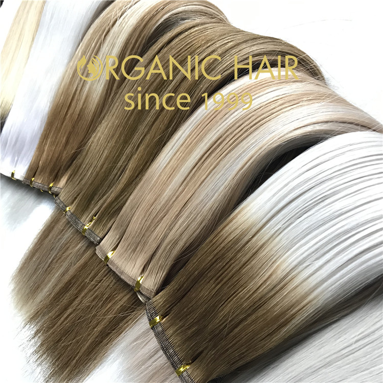 New product flat weft hair extensions  C48