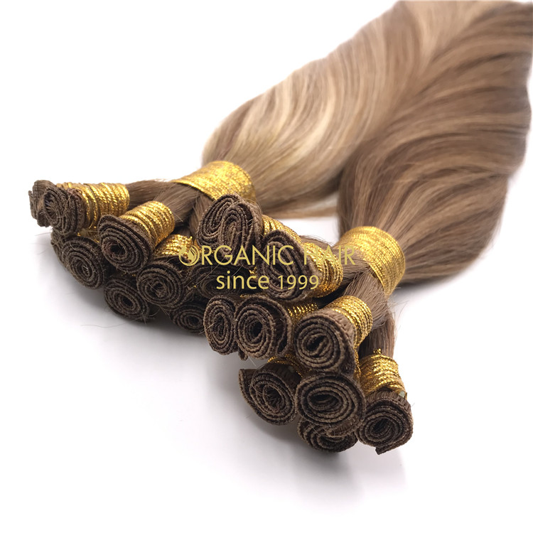 High Quality Mixed color Hand tied-hair extensions  H298