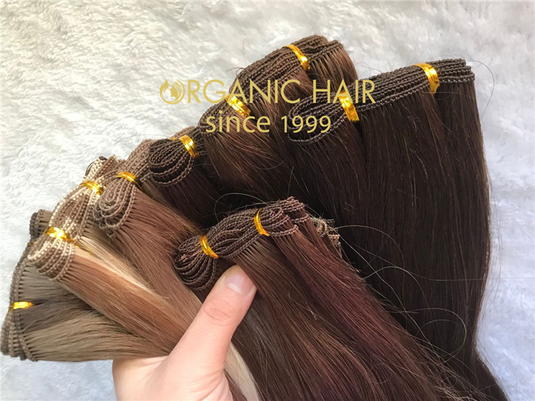 Best remy human hair extensions handtied weft C61