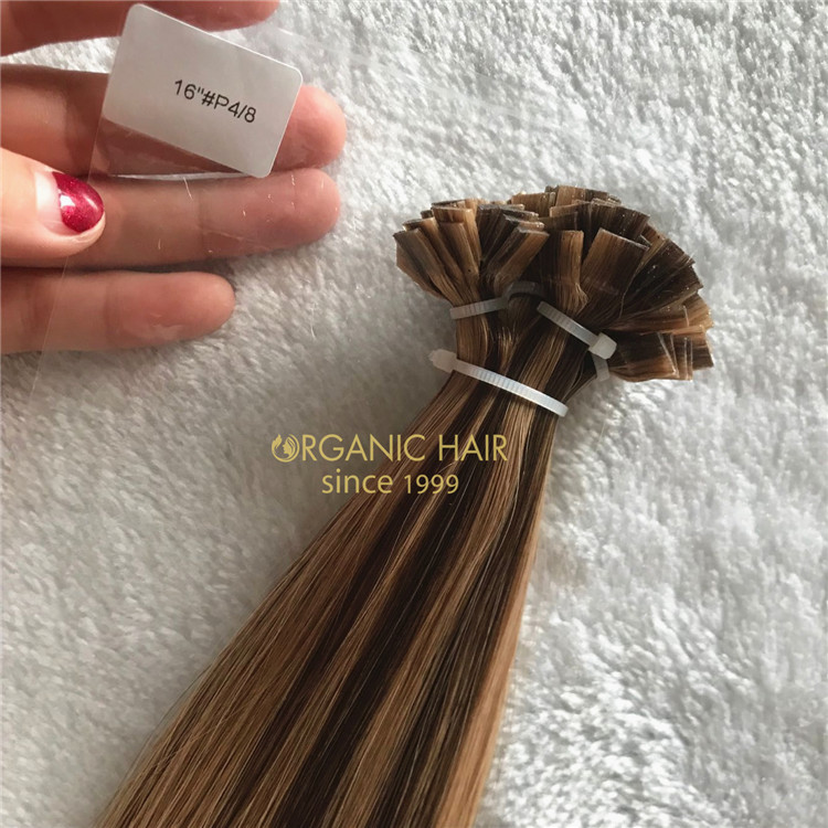 Colored best keratin bonds cuticle human hair A184