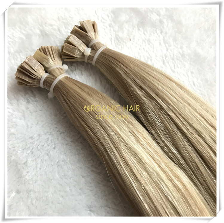 Flat tip pre bonded full cuticle hair extensions CNY027