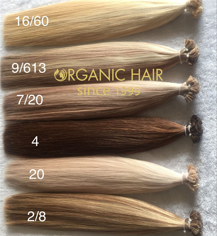 Amazing color flat tip hair extensions  C75