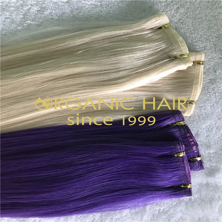 Organic new flat lace weft extensions  H211
