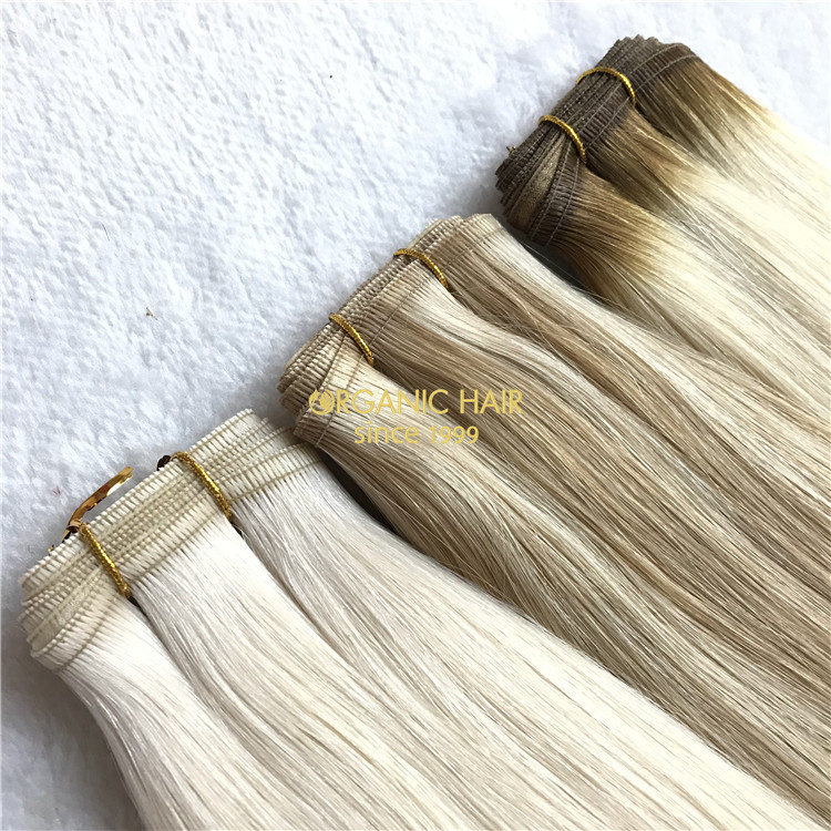 Future star human flat weft hair extensions X113