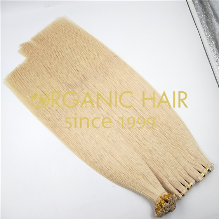 Chinese Hand Tied Weft Hair extensions Wholesale rb119