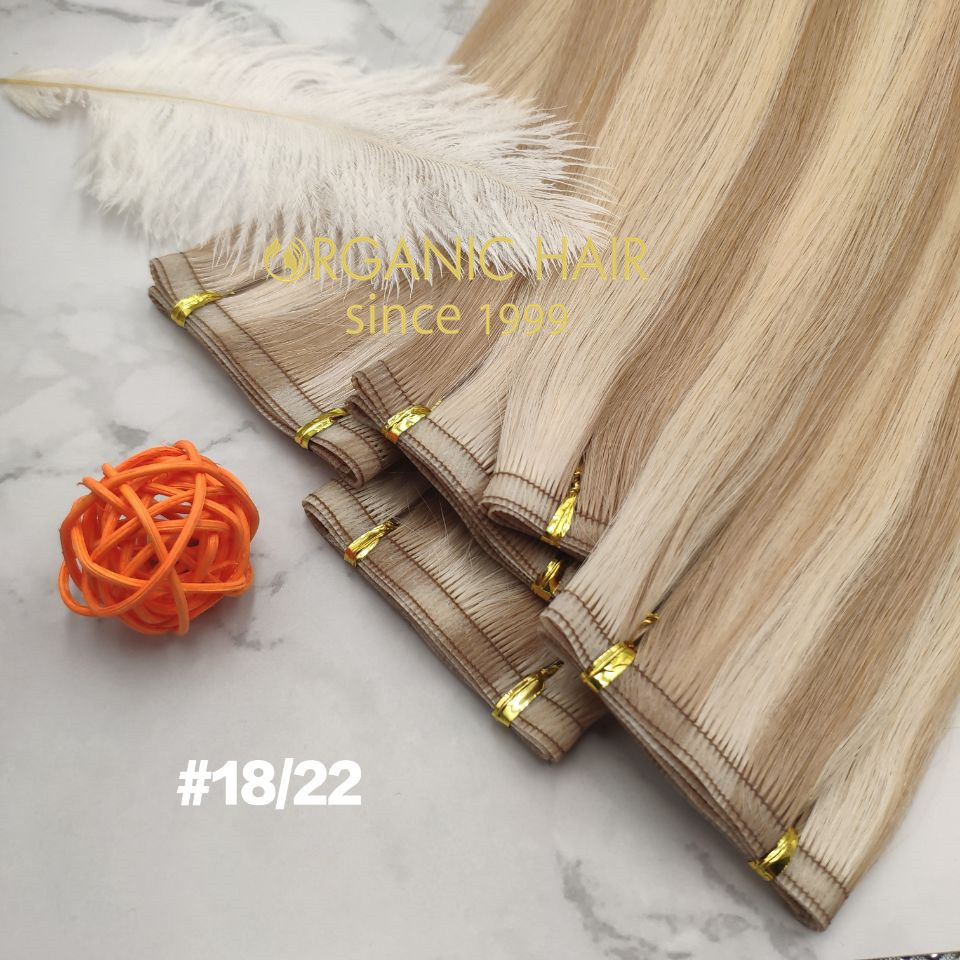 Hand tied wefts and seamless wefts which is more popular RB97