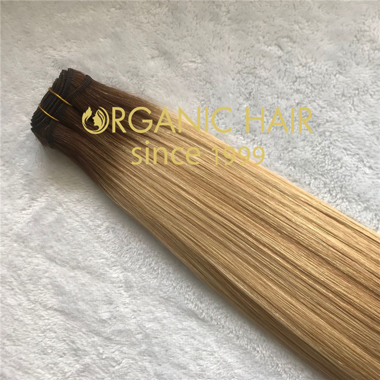 Full cuticle ombre color handtied weft  C89