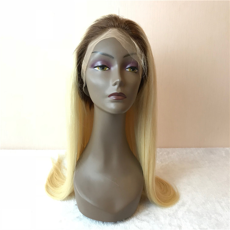 Blonde T color full lace wig for women H68