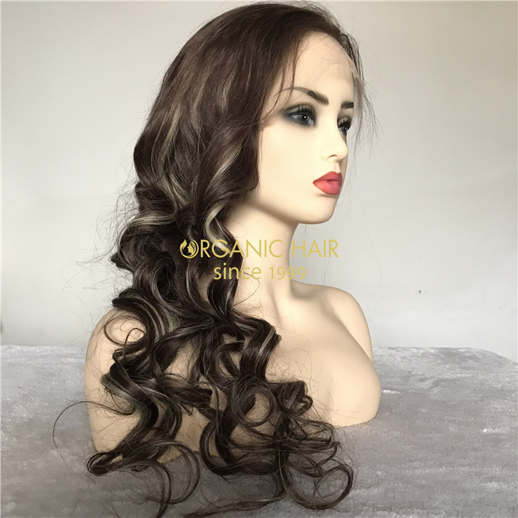 Human customized full lace wigs on sale X172