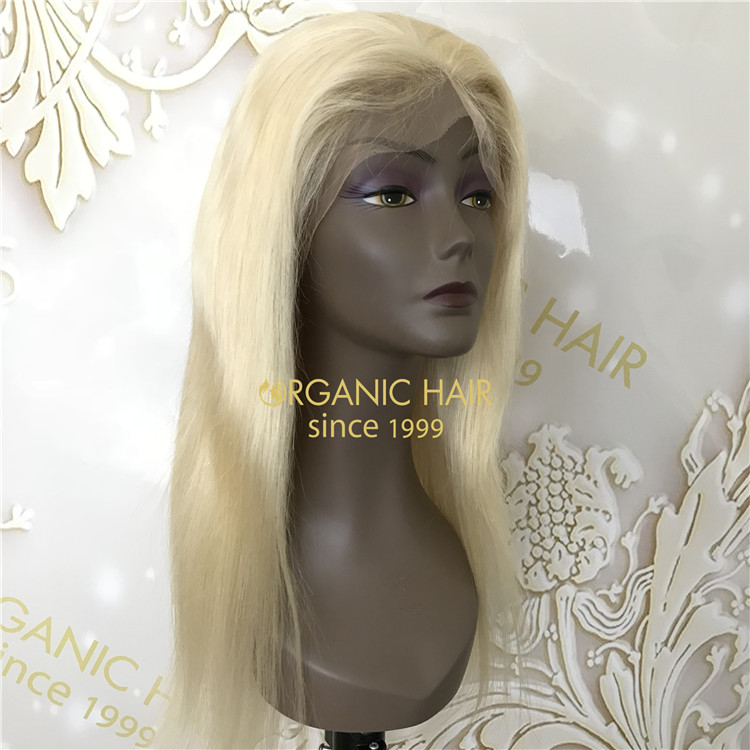 100 human hair wigs Natural color with full lace customized mono base h6