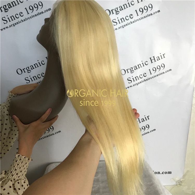 Cheap human virgin color full lace wig X64
