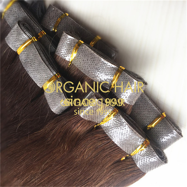 Hair extensions to order--PU skin weft C15