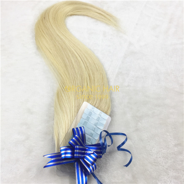 Invisilbe tape hair extensions wholesale