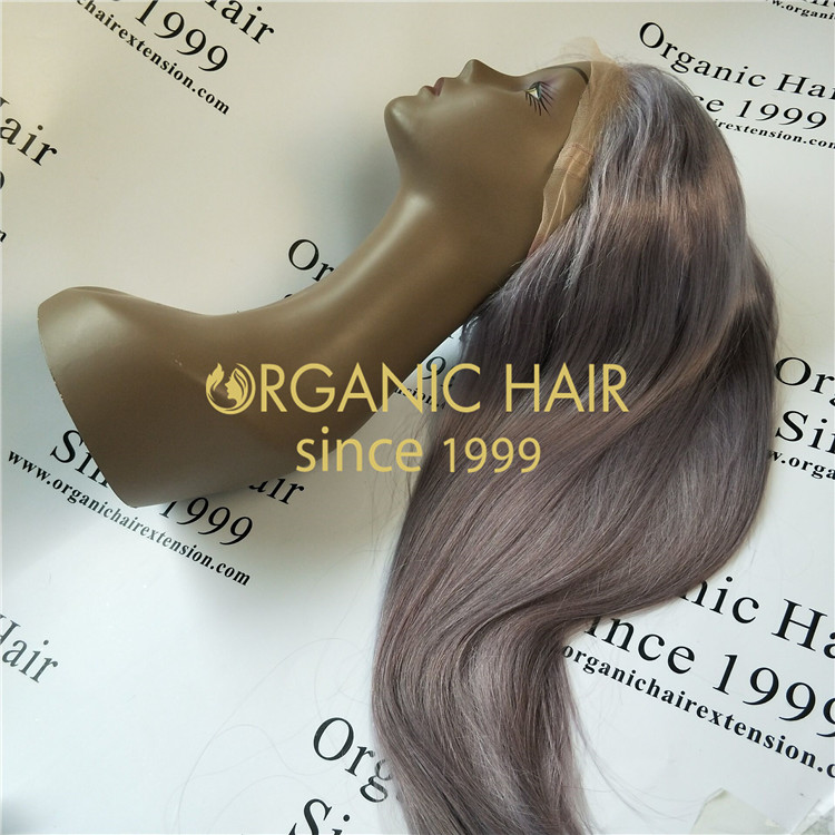 The best grey full lace wigs ,lace frontal wigs online world shipping hair wholesale factory in China A42