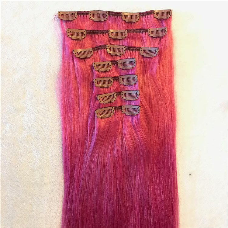 Brightly colored clip in hair extension  H74