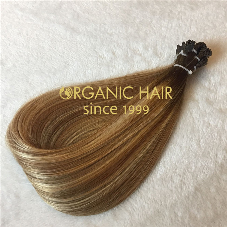 High quality human hair extensions--Ultra tip/Y tip/Fan tip hair extensions C17