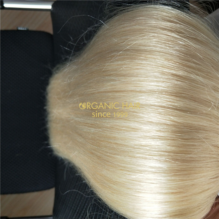 Double drawn human hair extension clip in hair extension at a competitive price C9