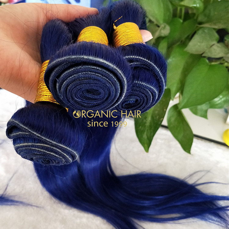 Virgin human hair weaves colorful bundles from China GT19