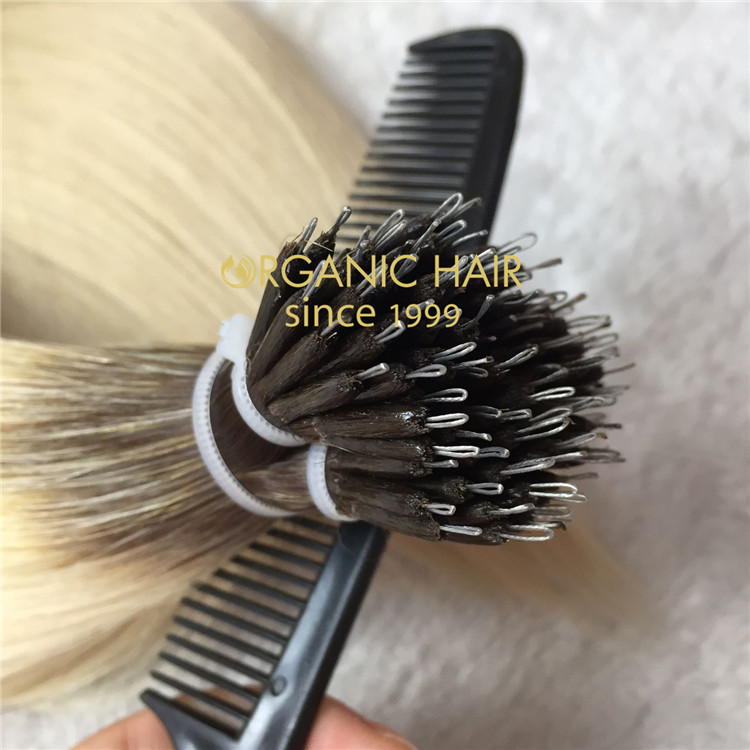 High quality human remy hair-- nano ring hair extensions CC117