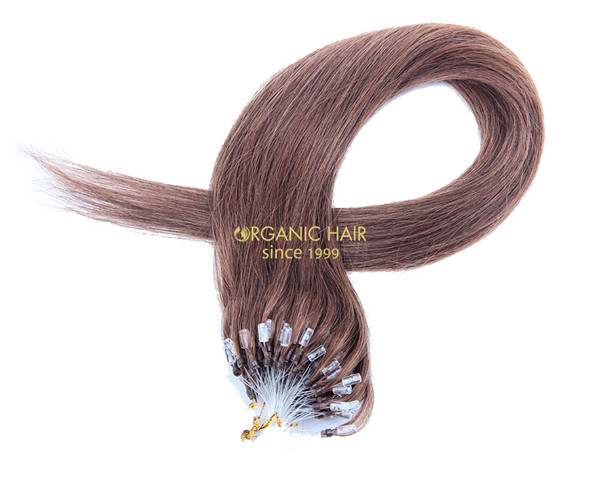 Human remy hair micro bond hair extensions los angeles #6, China OEM