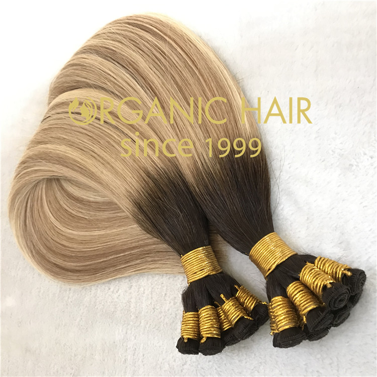 High end handtied weft with full cuticle intact  C74