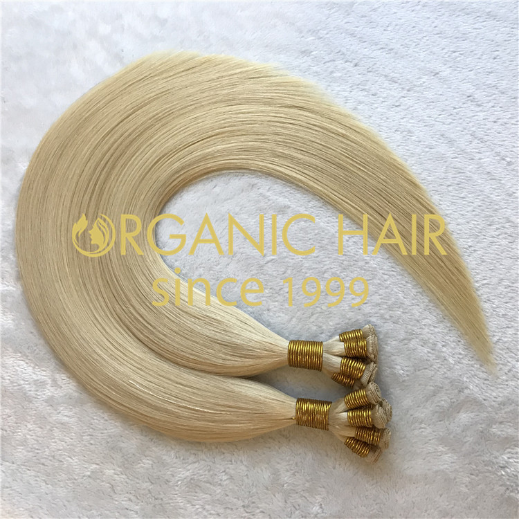 Top quality hair extensions to order-- Blonde Handtied Weft  C27