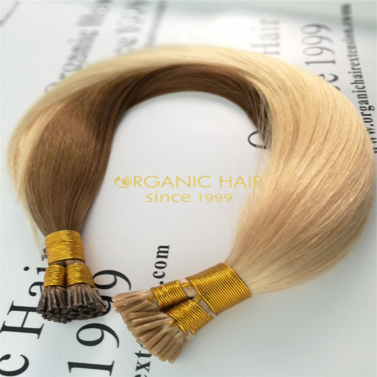 Best quality I tip hair extensions,double drawn russian hair extension in Chinese wholesale factory R26