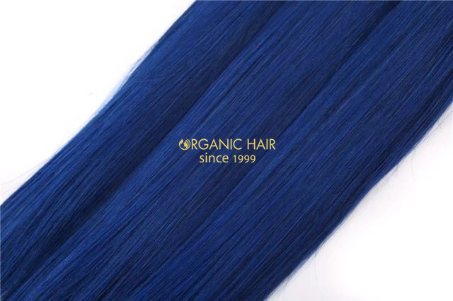Colored hair extensions blue hair extensions china oem colored colored hair extensions blue hair extensions pmusecretfo Images